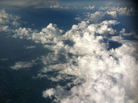 clouds above view 036